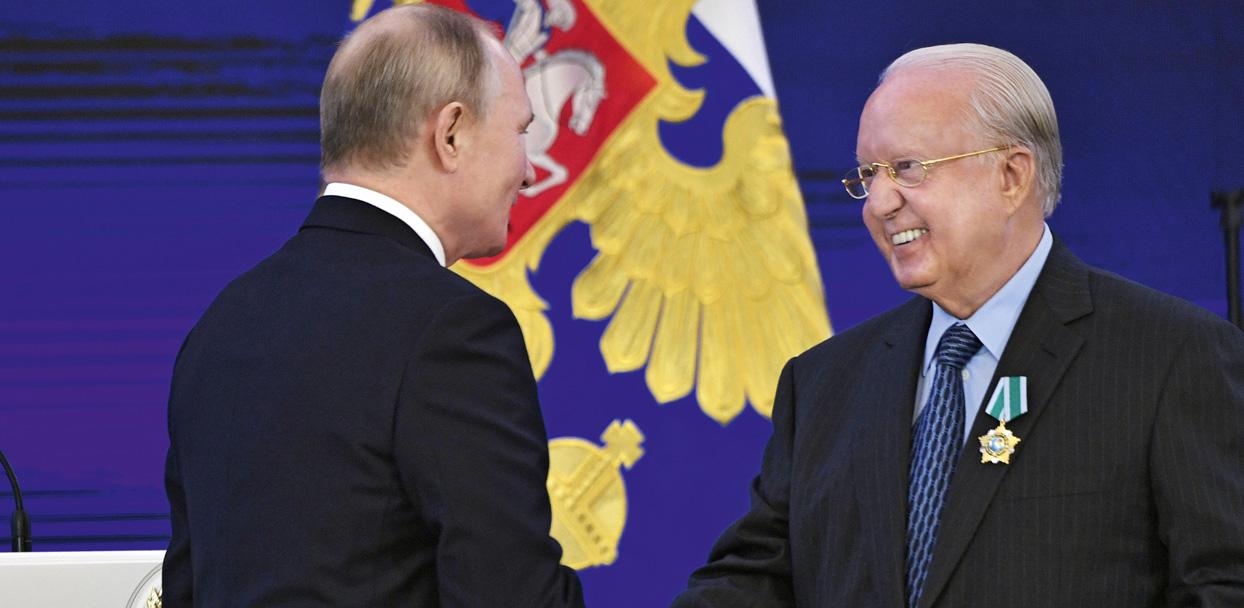 Παρασημοφόρηση του Ν. Δασκαλαντωνάκη από τον Πρόεδρο της Ρωσικής Ομοσπονδίας Βλαντιμίρ Πούτιν
